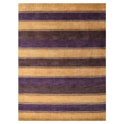 Conneautville Hand-Woven Wool Gold/Brown/Purple Area Rug Rug Size: Rectangle 6 x 9