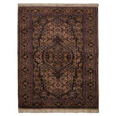 Olszewski Persian Hand-Woven Wool Brown Area Rug