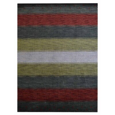 St Catherine Hand-Woven Wool Gray/Red Area Rug Rug Size: Rectangle�3 x 5