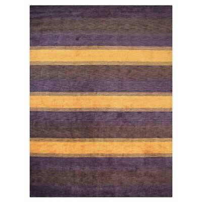 St Catherine Hand-Woven Wool Purple/Brown Area Rug Rug Size: Rectangle�5 x 8