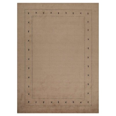 Manns Hand-Woven Wool Beige Area Rug Rug Size: Rectangle�8 x 11