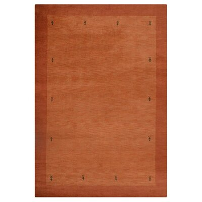 Manns Hand-Woven Wool Orange Area Rug Rug Size: Rectangle�67 x 910