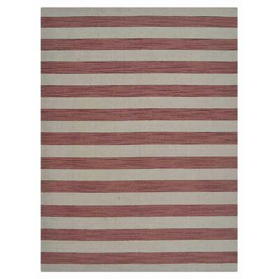 Cilegon Hand-Woven Wool Cream/Pink Area Rug Rug Size: Rectangle�8 x 10