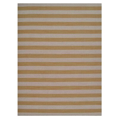 Cilegon Hand-Woven Wool Cream/Gold Area Rug