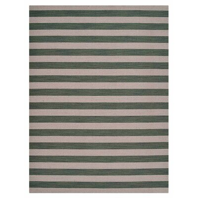 Cilegon Hand-Woven Wool Cream/Olive Area Rug Rug Size: Rectangle�67 x 910