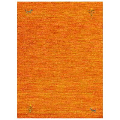 Manns Hand-Woven Wool Orange Area Rug Rug Size: Rectangle�6 x 9