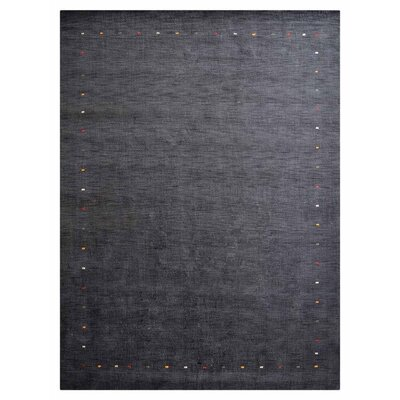 Woodhouse Hand-Woven Wool Charcoal Area Rug Rug Size: Rectangle�5 x 8
