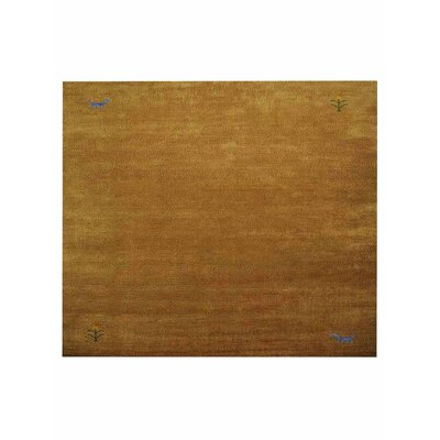 Manns Hand-Woven Gold Area Rug