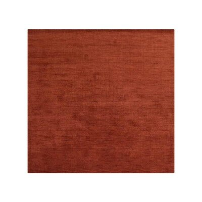 Ry Hand-Woven Wool Light Red Area Rug Rug Size: Square 5