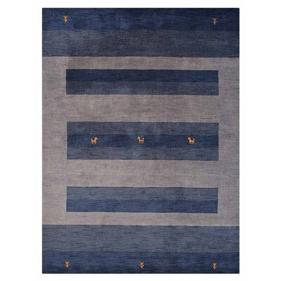 St Catherine Hand-Woven Wool Gray/Blue Area Rug Rug Size: Rectangle�67 x 910