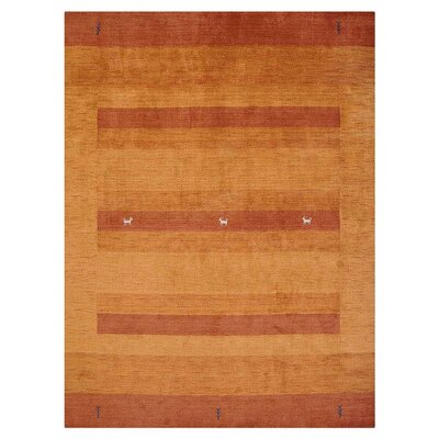 St Catherine Hand-Woven Wool Orange Area Rug Rug Size: Rectangle�5 x 8