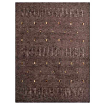 Coppermead Hand-Woven Wool Brown Area Rug Rug Size: Rectangle�5 x 8