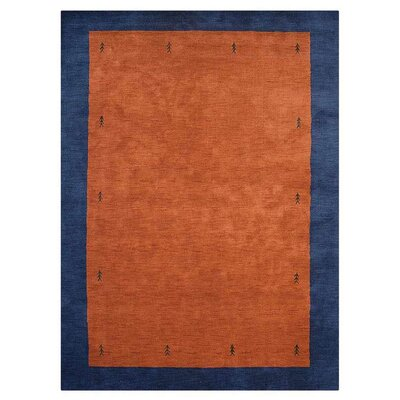 Manns Hand-Woven Wool Orange/Blue Area Rug Rug Size: Rectangle�57 x 710
