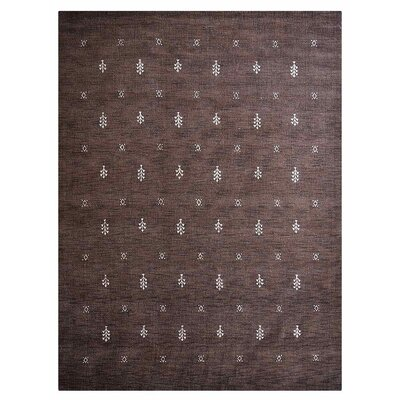 Cravens Hand-Woven Wool Brown Area Rug Rug Size: Rectangle�5 x 8