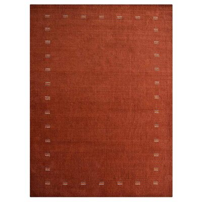 Manns Hand-Woven Wool Orange Area Rug