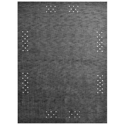 Manns Hand-Woven Wool Charcoal Area Rug Rug Size: Rectangle�6 x 9