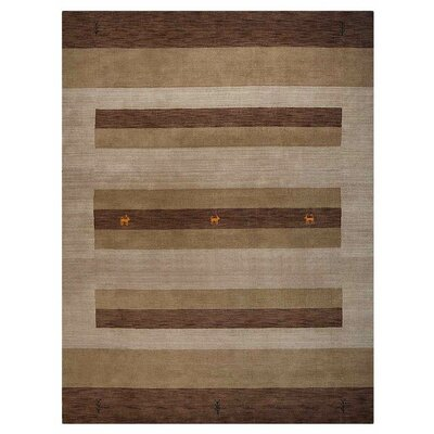 Manns Hand-Woven Wool Brown/Light Beige Area Rug Rug Size: Rectangle�8 x 10
