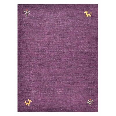 Manns Hand-Woven Wool Purple Area Rug Rug Size: Rectangle�6 x 9