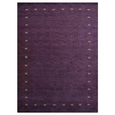 Manns Hand-Woven Wool Purple Area Rug