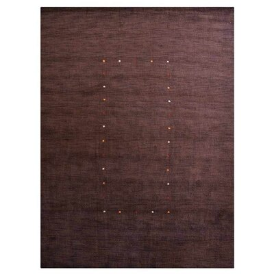 Maggiemae Hand-Woven Wool Brown Area Rug Rug Size: Rectangle 6 x 9