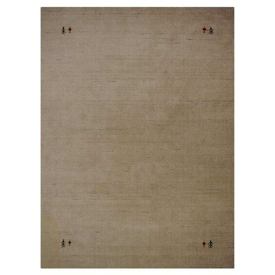 Maggiemae Hand-Woven Wool Beige Area Rug Rug Size: Rectangle 67 x 910
