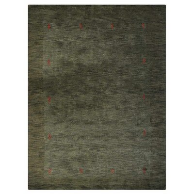 Manns Hand-Woven Wool Olive Area Rug Rug Size: Rectangle�6 x 9