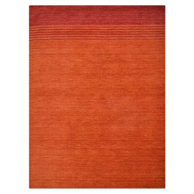 Manns Hand-Woven Wool Rust Area Rug