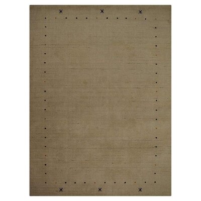 Maggiemae Hand-Woven Wool Beige Area Rug Rug Size: Rectangle 10 x 13
