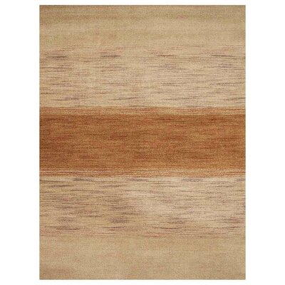 Christena Hand-Woven Wool Beige Area Rug Rug Size: Rectangle 6 x 9