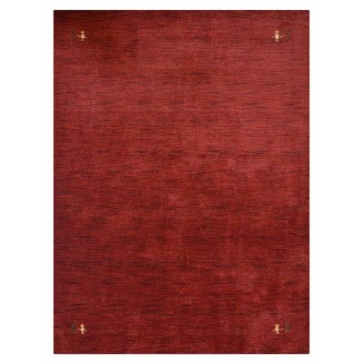 Manns Hand-Woven Wool Red Area Rug