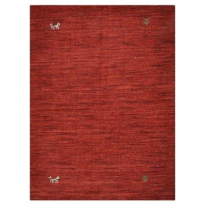 Cornish Hills Hand-Woven Wool Red Area Rug Rug Size: Rectangle 3 x 5