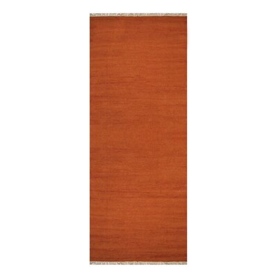 Cotulla Hand-Woven Dark Orange Area Rug Rug Size: Runner 26 x 10