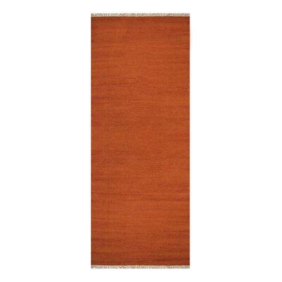 Cotulla Hand-Woven Dark Orange Area Rug Rug Size: Runner 26 x 10