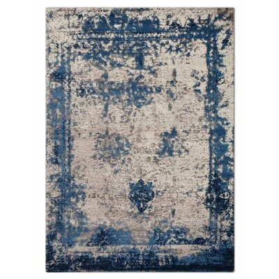 Annice Beige/Blue Area Rug Rug Size: Rectangle�67 x 9