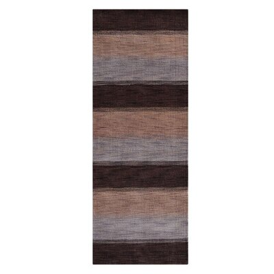 Ry Hand-Woven Wool Brown/Beige Area Rug Rug Size: Runner 26 x 12