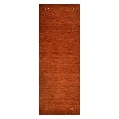 Manns Hand-Woven Wool Orange Area Rug Rug Size: Runner�26 x 10
