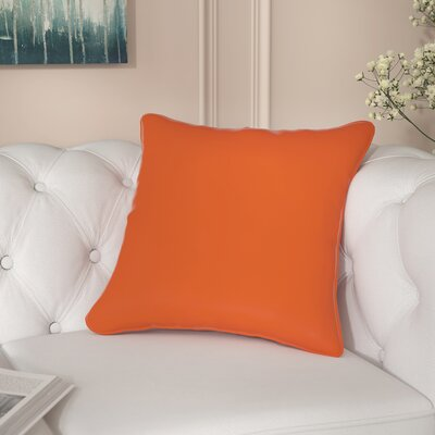 Aitana Outdoor Throw Pillow Color: Tango