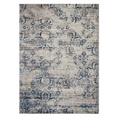 Apsley Beige/Blue Area Rug Rug Size: Rectangle�67 x 9