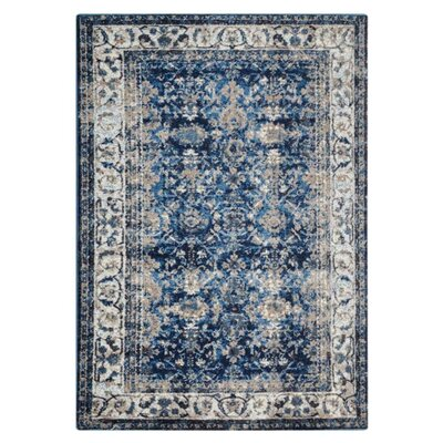 Areswell Ivory/Blue Area Rug Rug Size: Rectangle�67 x 9