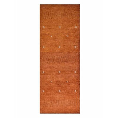 Mcgrath Loom Hand-Woven Wool Orange Area Rug Rug Size: Runner�26 x 10