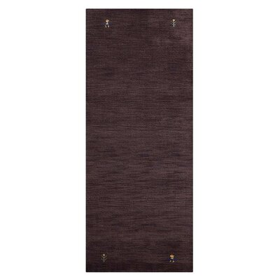 Manns Hand-Woven Wool Brown Area Rug