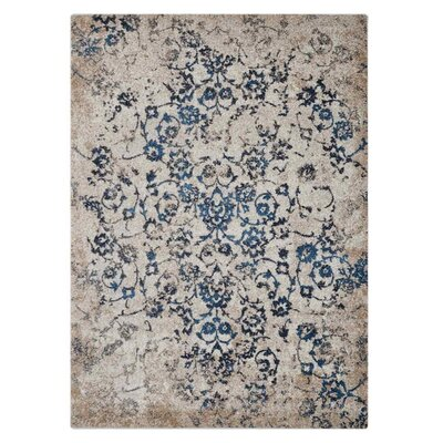 Arakaki Beige/Blue Area Rug Rug Size: Rectangle�67 x 9