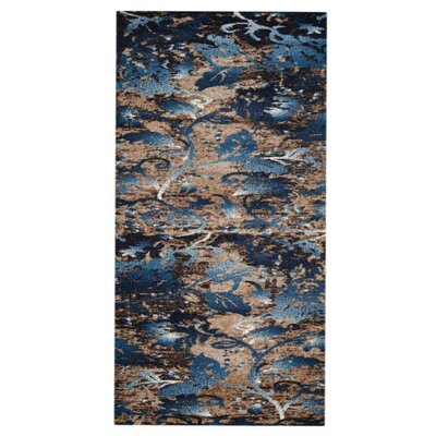 Aresford Blue Area Rug Rug Size: Runner�32 x 10