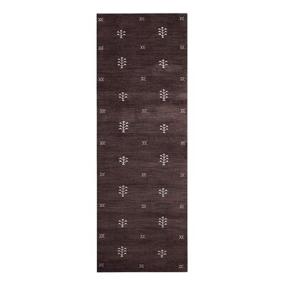 Cravens Hand-Woven Wool Brown Area Rug Rug Size: Runner�26 x 12