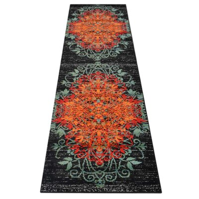 Anneliese Orange/Green Area Rug Rug Size: Runner�32 x 10