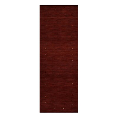 Ry Hand-Woven Wool Red Area Rug Rug Size: Runner 26 x 10