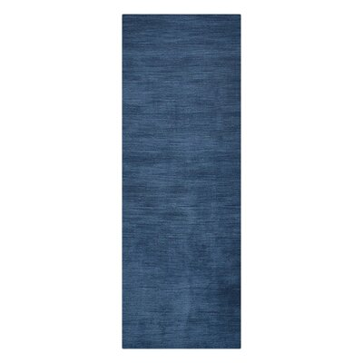 Woodhouse Hand-Woven Wool Blue Area Rug Rug Size: Runner�26 x 8