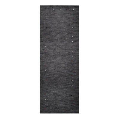 Delosreyes Loom Hand-Woven Wool Charcoal Area Rug Rug Size: Runner 26 x 10