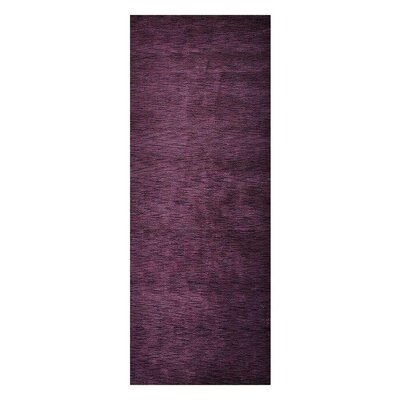 Delano Solid Hand-Woven Wool Purple Area Rug Rug Size: Runner 26 x 10