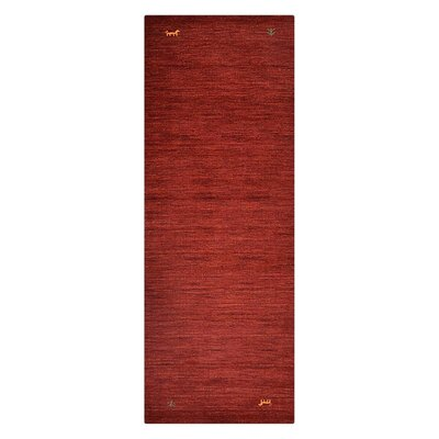 Cornish Hills Hand-Woven Wool Red Area Rug Rug Size: Runner 26 x 12